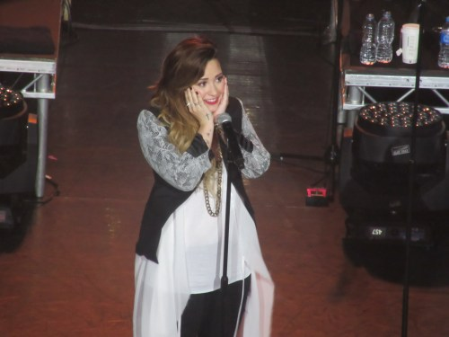 Demi spots a princess in the crowd at KOKO