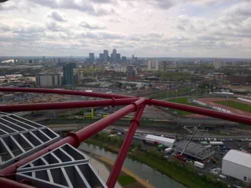 The view from the Arcelor Mittal Orbit