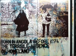 BORN IN ANGOLA BEFORE 1974 - The Terrible Absence of Homeland - Acrylic and spray on canvas - 150 X 200 cm