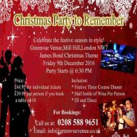 Mill Hill London Christmas Party to Remember GreenVue