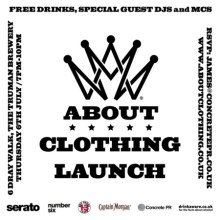 ABOUT Clothing Launch x Serato at Number Six London