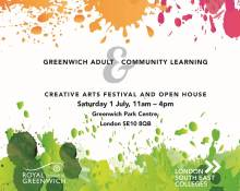 Greenwich Adult Learning Creative Arts Festival & Open House