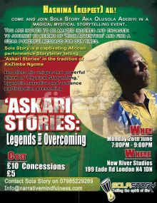 Storytelling evening at New River Studios