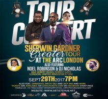 Sherwin Gardner with LIVE Band 'The Greater Tour' London