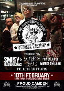 Camden Rocks presents The Real McKoys and more at Proud Camden