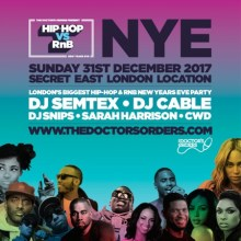 Hip-Hop vs RnB – New Year's Eve – Tickets from JUST £15 – East LDN Location