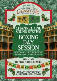 Channel One Boxing Day Session at Village Underground – 26.12.17