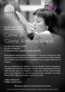 Come and Sing: Vivaldi Gloria