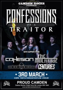 Camden Rocks presents Confessions Of A Traitor and more at Proud