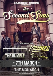 Camden Rocks presents The Second Sons and more at The Monarch