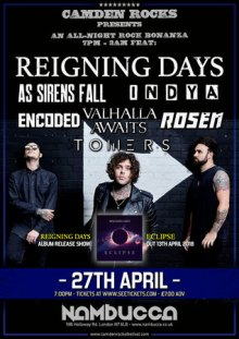 Camden Rocks All-Nighter feat. Reigning Days and more at Nambucca