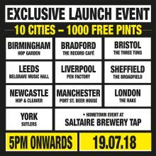 EXCLUSIVE SALTAIRE BREWERY LAUNCH EVENT AT THE RAKE | 19.07.18