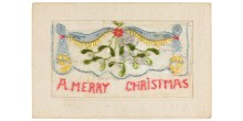 Embroidered Christmas cards workshop