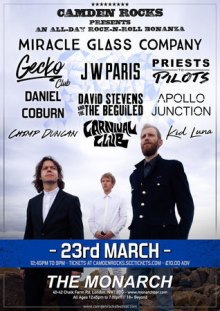 Camden Rocks All Dayer w/ Miracle Glass Company at The Monarch