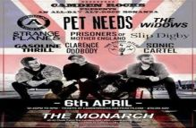 Camden Rocks All Dayer w/ Pet Needs and more at The Monarch