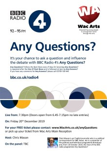 BBC's Any Questions at Wac Arts