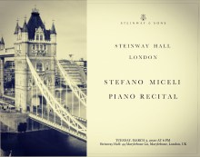 Stefano Miceli at Steinway Hall