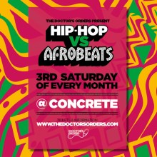 Hip-Hop vs Afrobeats @ Concrete Shoreditch – Sat 18th April