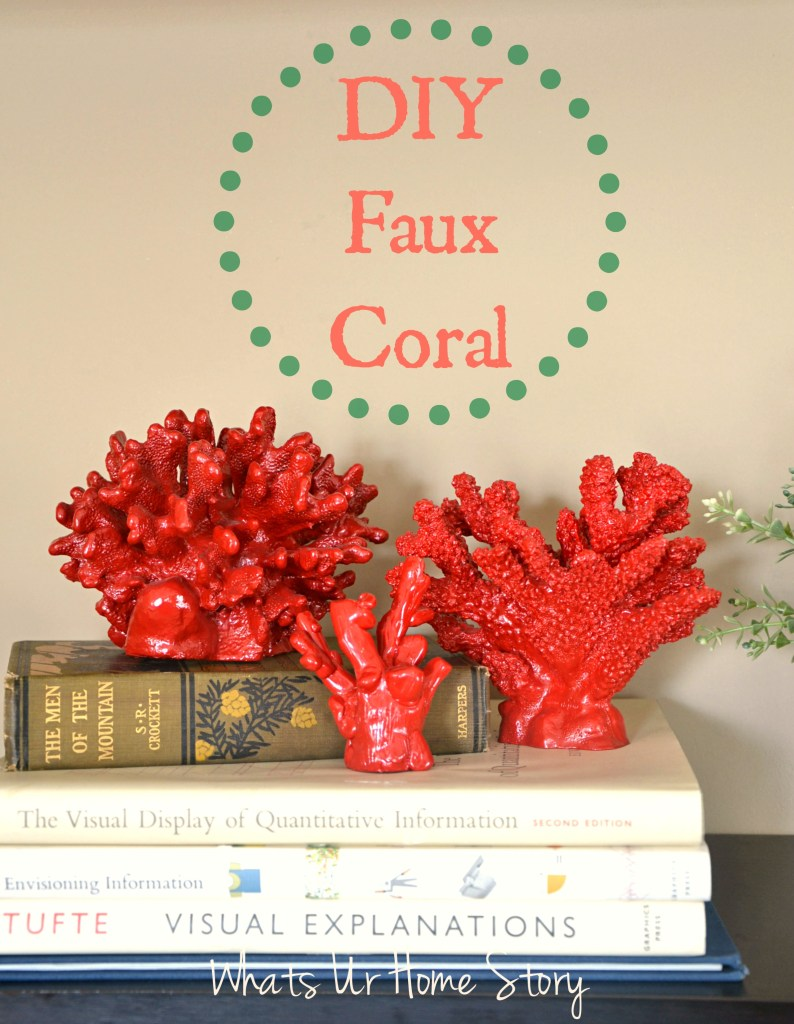 diy-faux-coral, pottery-barn-knock-off coral, polymer-clay-coral, how-to-make-faux-coral
