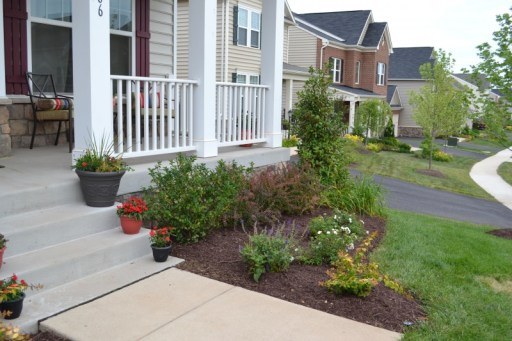 landscaping after, front yard landscaping; Front Garden Ideas