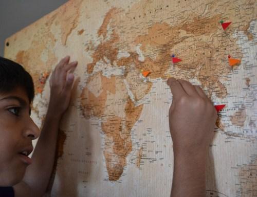 map cork board