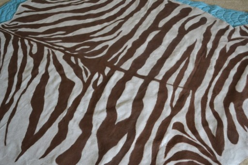 zebra floor cloth