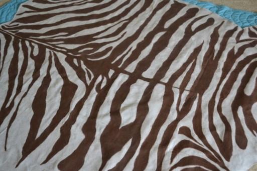zebra floor cloth
