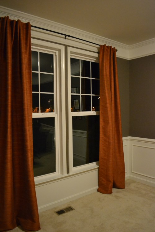 diy hemmed curtains, hemming curtains with tape