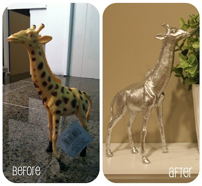 spray paint kids toys for chic animal decor
