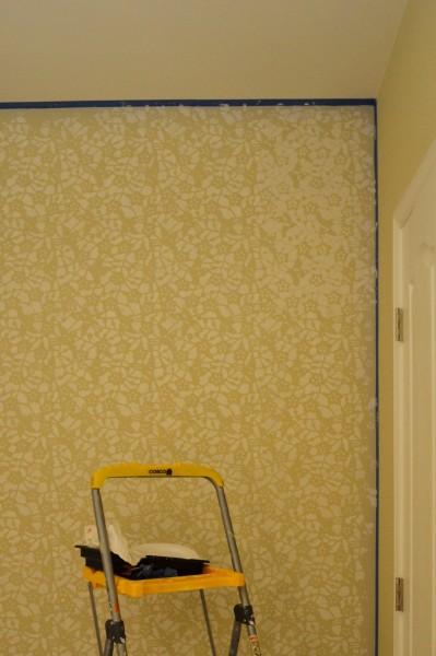 stenciling walls, stencil wall diy