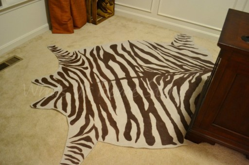 Whats Ur Home Story: DIY zebra rug, DIY Drop cloth Rug