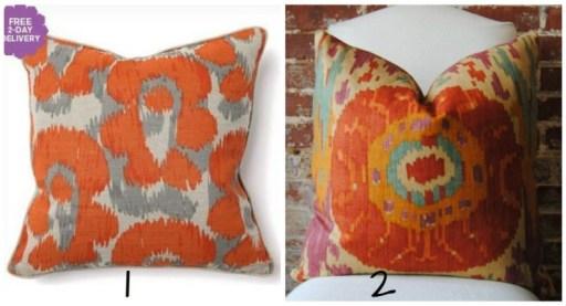 orange throw pillow, Grand Living Room
