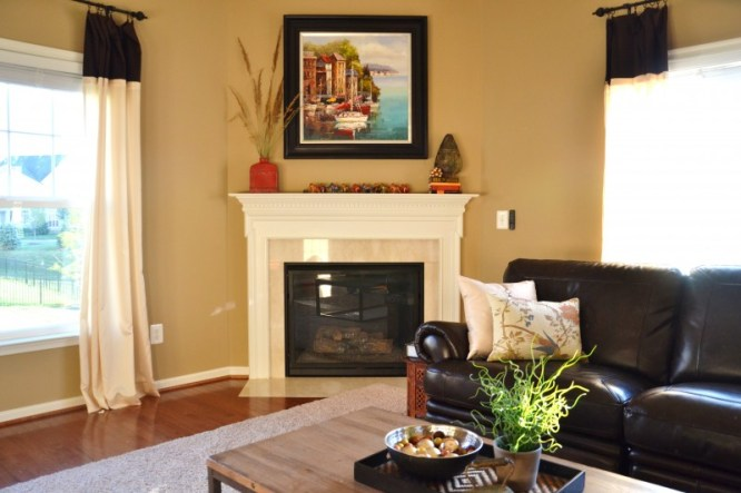 Whats Ur Home Story: Family room, SW Latte,Sherwin Williams Latte