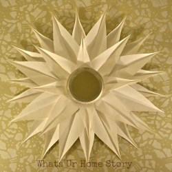 DIY Sunburst Mirror, Poster Board Sunburst Mirror