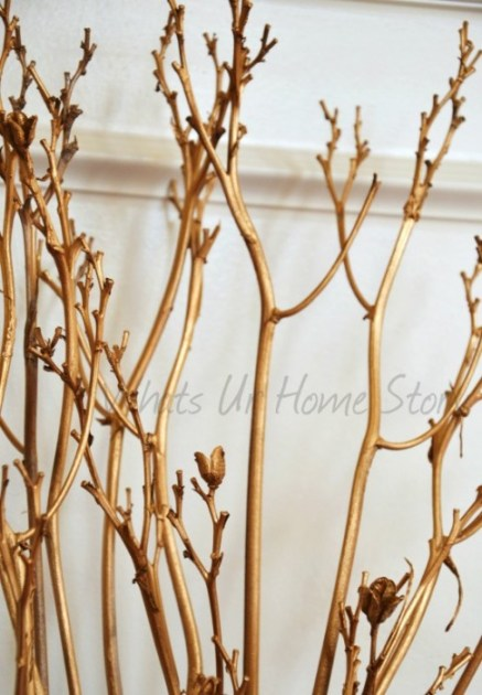 Whats Ur Home Story: Gold painted sticks