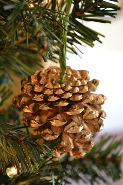 Whats Ur Home Story: DIY Gold Pine Cone Ornament,Gilded Pine Cone Ornament, West elm pine cone ornament