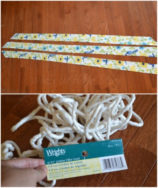Step by step instructions on making a welt cord