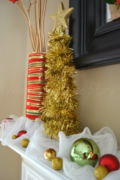 Whats Ur Home Story: DIY Tinsel Christmas Tree, Tinsel Christmas Decorations