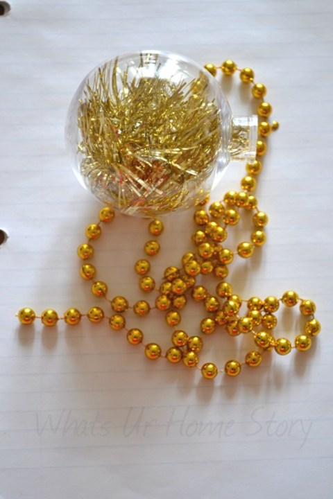 Whats Ur Home Story: How to make a tinsel ornament, Tinsel Christmas Decorations