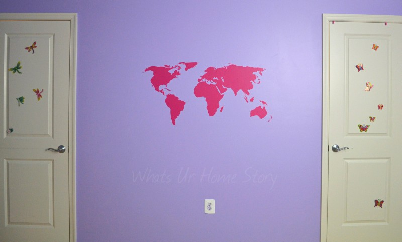 Whats Ur Home Story: world map wall decal, CurlyQ wall sticker