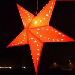 Whats Ur Home Story: Star Paper Lantern, Outside Christmas Decor