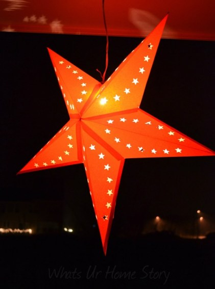 Whats Ur Home Story: Star Paper Lantern, Outside Christmas Decor,paper star lanterns, christmas decorating