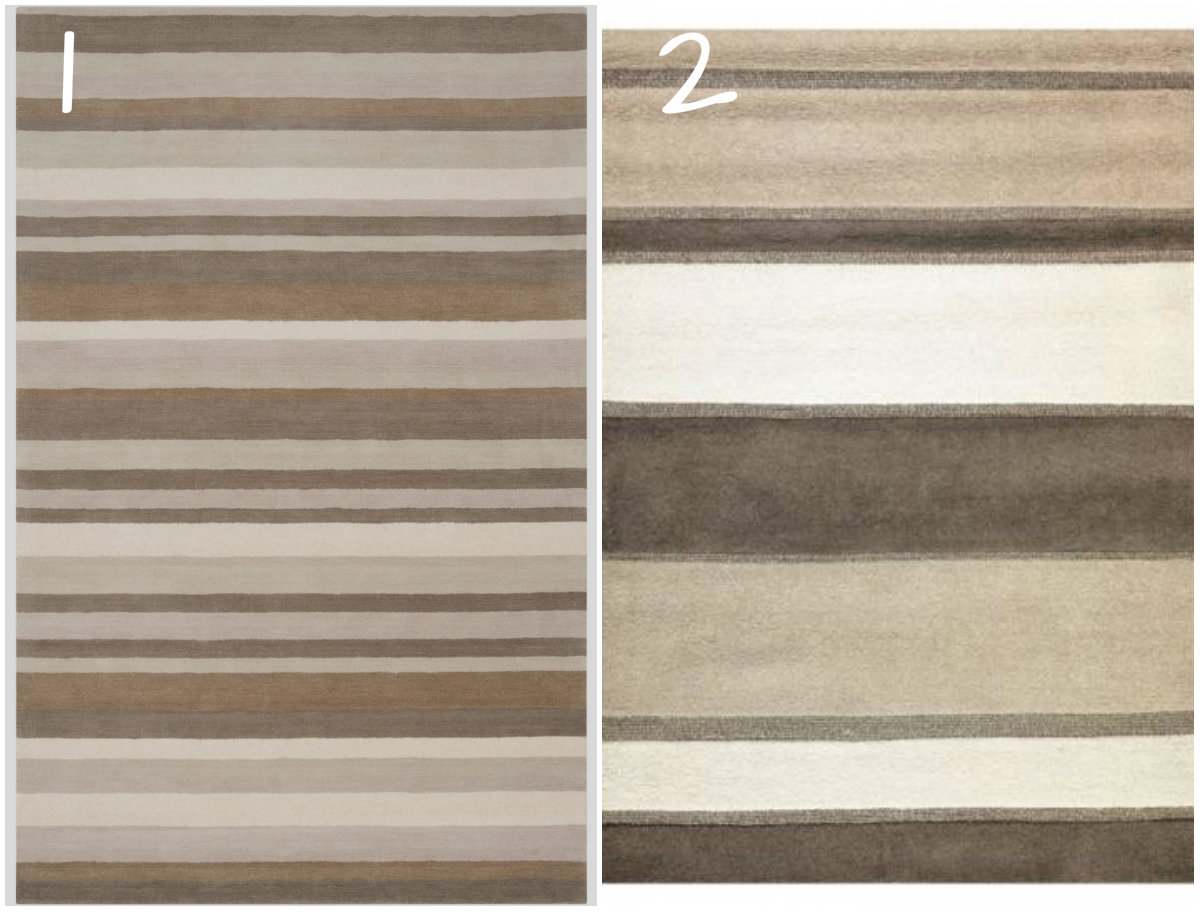 Whats Ur Home Story :Contemporary striped rug