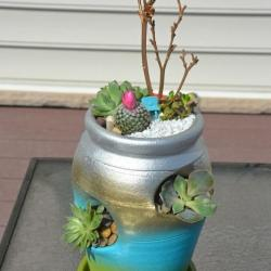 strawberry pot succulent planter, mother's day gift, decorating with succulents, succulent planter,