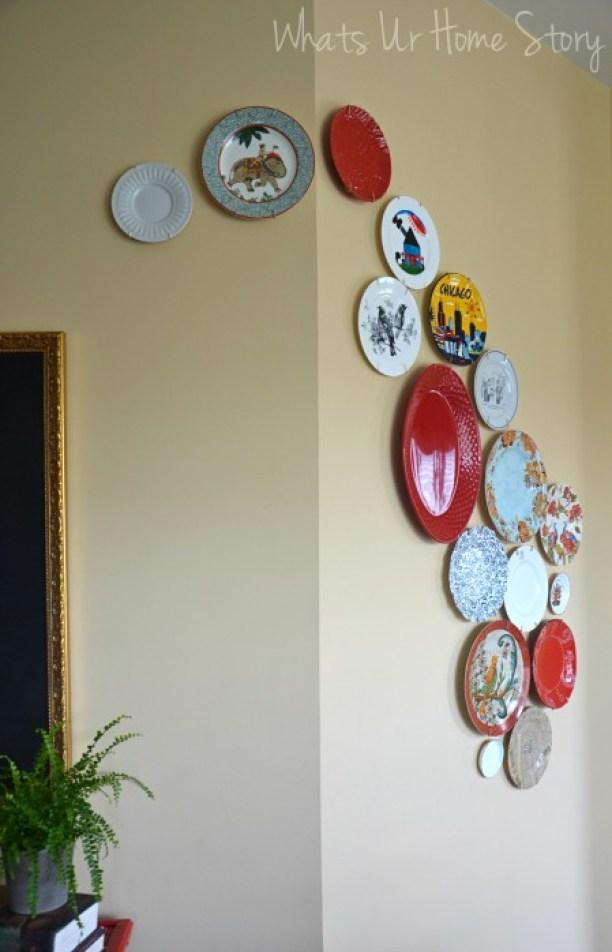 DIY Plate Wall, Modern Plate Wall