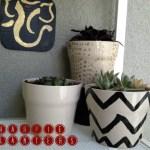IKEA planter hack, sharpie planters