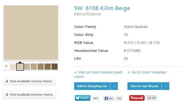 sherwin williams kilim beige paint strip, Choose Paint Colors, How to Choose Paint Colors