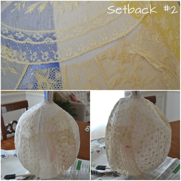 Whats Ur Home Story: DIY lace chandelier fail