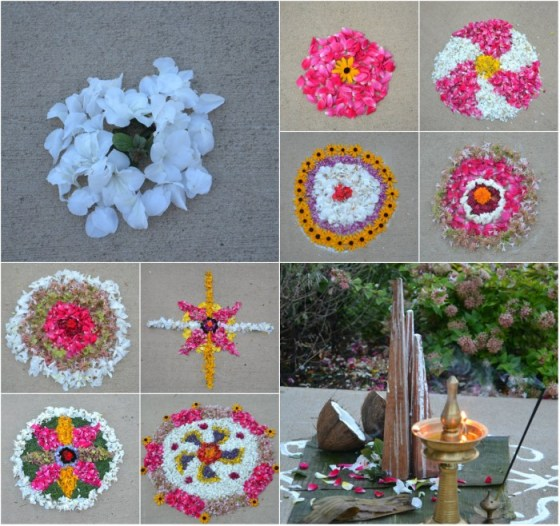 Athapookalam seigns or Simple Onam Pookalams