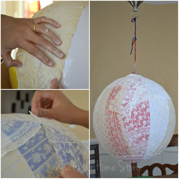 Whats Ur Home Story: DIY lace chandelier fail, DIY chandelier project fail